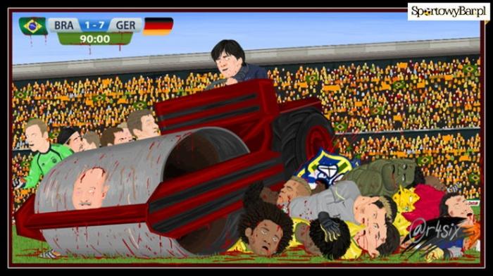 Niemiecki walec przejchał po Brazylii